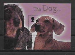 Turks & Caicos 2003 Hunde/Dogs Block 228 ** - Turks E Caicos