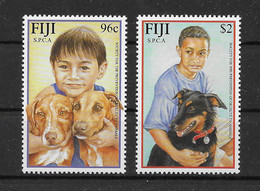 Fiji 2001 Kinder Hunde/Dogs Mi.Nr. 967/68 Kpl. Satz ** - Fiji (1970-...)