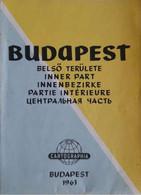Carte - Budapest 1963 - Partie Intérieure - Belso Terulete - Inner Parte - Innenbezirke - Other