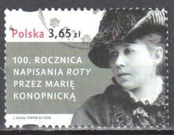 Poland 2008  Maria Konopnicka - Mi 4399 - Used - Gestempelt - Usati