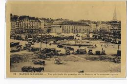 NANTES (Loire Atlantique) Vue Générale Du Quartier De La Bourse Et Le Nouveau Square.  Oblitération NANTES GARE 1937 - Nantes