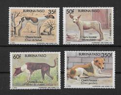Burkina Faso 1989 Hunde/Dogs Mi.Nr. 1214/17 Kpl. Satz ** - Burkina Faso (1984-...)