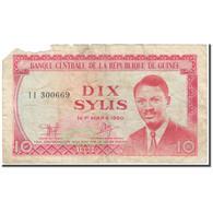 Billet, Guinea, 10 Sylis, 1980, 1980 (Old Date : 1960/03/01)., KM:23a, AB - Guinea