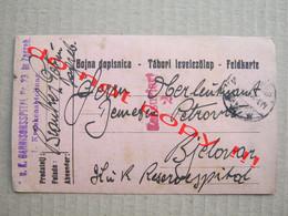 K. U. K. Garnisonsspital Nr. 23 In Zagreb I. Krankenabteilung - Zensuriert 2 ( 1915 ) / Bojna Dopisnica, Feldkarte - Croatia