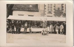 CARTE PHOTO  - Fêtes De Village - Commune De L'Oise Hanvoile Ou Environ?... Plaque Sur Façade Mr Mme SOUFFET - Photographs