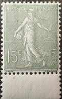 R1491/272 - 1903 - TYPE SEMEUSE LIGNEE - N°130o (V) NEUF** Papier X - BdF - LUXE - BON CENTRAGE - 1903-60 Sower - Ligned