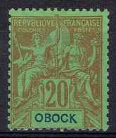"""Obock, 20c, Type """"Groupe"""", 1892, (*), TB Un Joli Timbre, Neuf Sans Gomme Sinon TB - Neufs"""