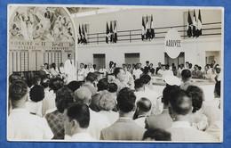 SENEGAL Aviation - Inauguration De L' Aéroport Aérogare Léopold-Sédar-Senghor En 1947 ? Carte Photo Pliures Angle Gauche - Senegal
