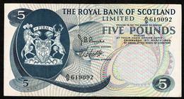 Royal Bank Of Scotland Ltd * £5 * Robertson & Burke * Prefix A/9 * P330 / SC816a * 19.03.1969 * VF - 5 Pounds
