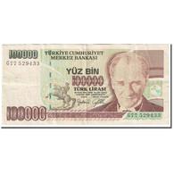 Billet, Turquie, 100,000 Lira, 1997-2001, Old Date : 01.11.1970 (1997-01). - Turkey