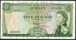 States Of Jersey * £1 * Padgham * Prefix A - FIRST * P8a / JE11a * GVF - 1 Pound
