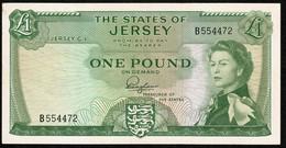 States Of Jersey * £1 * Padgham * Prefix B - Second * P8a / JE11a * VF - 1 Pound