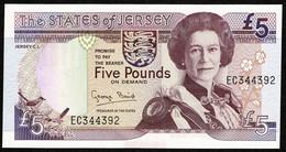 States Of Jersey * £5 * Baird * Prefix EC * P21a / JE24a * 1993 * UNC - 5 Pounds