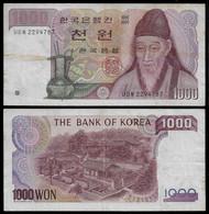 SOUTH KOREA BANKNOTE 1000 WON (1975) P#44 F/VF (NT#05) - Korea, South