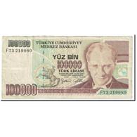 Billet, Turquie, 100,000 Lira, 1997, Old Date : 14.10..1970 (1997)., KM:206, B - Turkey