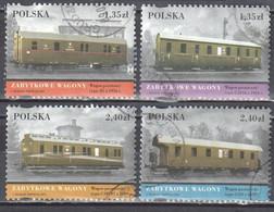 Poland 2007 - Vintage Trains - Mi 4308-11 - Used - Usati