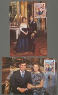 Jersey 1986 Royal Wedding Set 2 On Maxicard - Jersey