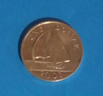 1 Dollar Coin From Bermuda, Used, Year 2003 - Bermuda