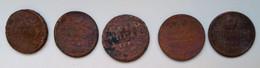 Lotto 5 Monete Impero Russo 1785 Condizione Come Da Foto - Russia