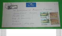 MALAYSIA - Registered R- Brief Letter Lettre 信 Lettera Carta пи�?ьмо Brev 手紙 จดหมาย Cover Envelope (2 Foto)(34123) - Malaysia (1964-...)