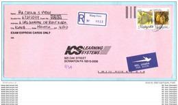 MALAYSIA MALAISIE R- Brief Registered Cover Lettre 332 C + 334 C - Früchte Pflanzen (23299) - Malaysia (1964-...)