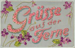 Gruß Aus Der Ferne Schöne Prägekarte 1915 - Greetings From...