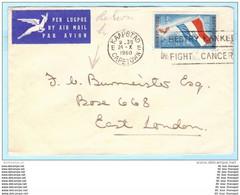 SÜDAFRIKA SOUTH AFRICA Brief Cover Lettre - 268 Flagge - SST Slogan (Scan)(26716) - Storia Postale