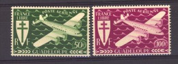02390  -   Guadeloupe  -  Avion  :   Yv  4-5  ** - Airmail
