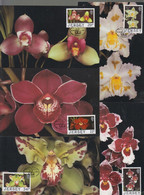 Jersey 1988 Orchids Set 5 On Maxicard - Jersey