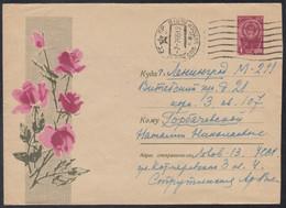 3725 RUSSIA 1965 ENTIER COVER Used FLOWER Plant Plants FLOWERS FLEUR FLEURS BLUMEN ROSE ROSES USSR Mailed 199 - 1960-69