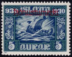✔️ Island Iceland 1930  - Service Officials - Allthing 1000 Years - Mi. 45 * MH - €20 Depart 1,99 - Dienstpost
