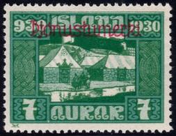 ✔️ Island Iceland 1930  - Service Officials - Allthing 1000 Years - Mi. 46 * MH - €20 Depart 1,99 - Dienstpost
