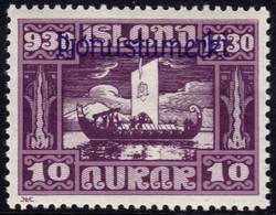 ✔️ Island Iceland 1930  - Service Officials - Allthing 1000 Years - Mi. 47 * MH - €20 Depart 1,99 - Dienstpost