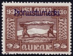 ✔️ Island Iceland 1930  - Service Officials - Allthing 1000 Years - Mi. 50 * MH - €20 Depart 1,99 - Dienstpost
