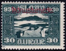 ✔️ Island Iceland 1930  - Service Officials - Allthing 1000 Years - Mi. 51 * MH - €20 Depart 1,99 - Dienstpost