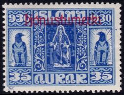 ✔️ Island Iceland 1930  - Service Officials - Allthing 1000 Years - Mi. 52 * MH - €20 Depart 1,99 - Dienstpost