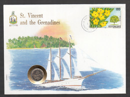 013) Beautiful Numiscover Numisbrief UN New York St. Vincent And The Grenadines - West Indies