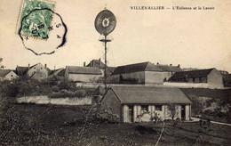 VILLEVALLIER  - L'Eolienne Et Le Lavoir - Altri Comuni