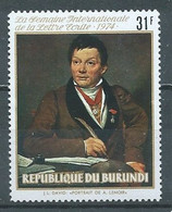 Burundi YT N°630 Semaine Internationale De La Lettre écrite Neuf ** - 1970-79: Neufs