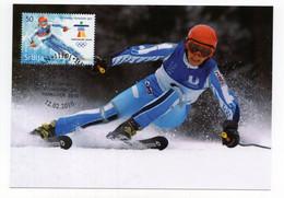2010 SERBIA,BELGRADE,MAXIMUM CARD,FD CANCELLATION,XXI WINTER OLYMPIC GAMES VANCOUVER - Serbia