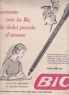 (pagine-pages)PUBBLICITA' BIC  Epoca1956/275r. - Altri