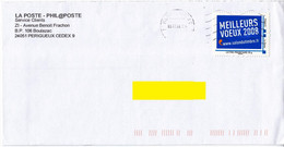 """MonTimbraMoi Personnalisé MTAM """"MEILLEURS VOEUX 2008 Salon Du Timbre"""" Lettre 20gr, Oblitéré Sur Lettre Du 11-07-08 - Gepersonaliseerde Postzegels (MonTimbraMoi)"""