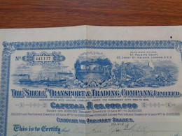 """ANGLETERRE - LONDRES 1929 - THE """"SHELL"""" TRANSPORT & TRADING COMPANY - TITRE DE 1 ACTION DE 1 £ - Unclassified"""