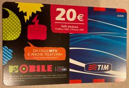 REF. 87 - TIM - 20 EURO - MOBILE - VALIDITA . AGO 2010 - [2] Sim Cards, Prepaid & Refills
