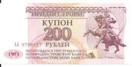 TRANSNISTRIE 200 RUBLEI 1993 UNC P 21 - Moldova