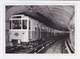Metro Parisien - RATP 1956 - Matériel Sur Pneumatiques - Photo - Subway