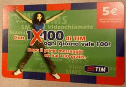 REF. 87 -  ITALIA - TIM - € 5 - 1 X 100 - VALIDITA SET 2009 - [2] Sim Cards, Prepaid & Refills