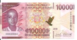 GUINEE 10000 FRANCS  2018 UNC P New - Guinea