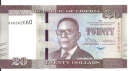 LIBERIA 20 DOLLARS 2016 UNC P 33 A - Liberia