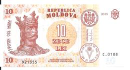 MOLDAVIE 10 LEI  2015 UNC P 22 - Moldova